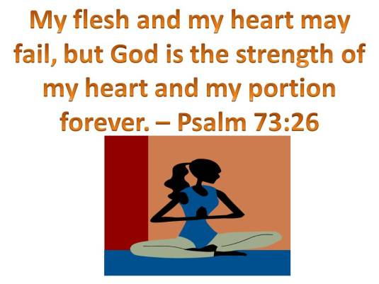 my flesh and my heart is God