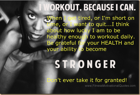 exercise makes me stronger