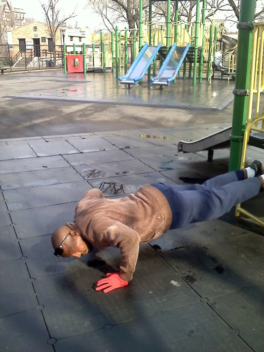 Hubby - Pushups in Brooklyn