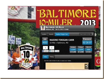 Baltimore 10 Miler 2013 results