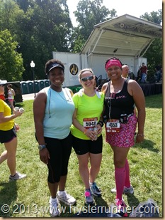 Baltimore 10 miler with rhandi and rachel
