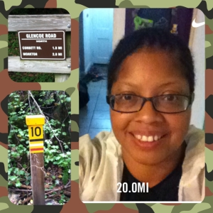 Here I am after I completed 20 miles on the NCR trail. I turned around at the 10 mile mark for an out and back.